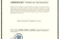 "Certificat ""Firma de Incredere"" 2016 – PGC"