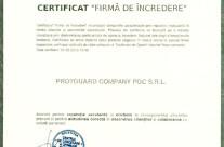 Certificat 'Firma de incredere' 2016