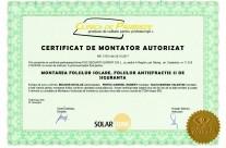 Certificat de montator autorizat