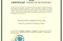 """Certificat """"Firma de incredere"""""""