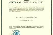 """Certificat """"firma de incredere 2″"""