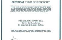 Certificare Firma de Incredere 2020
